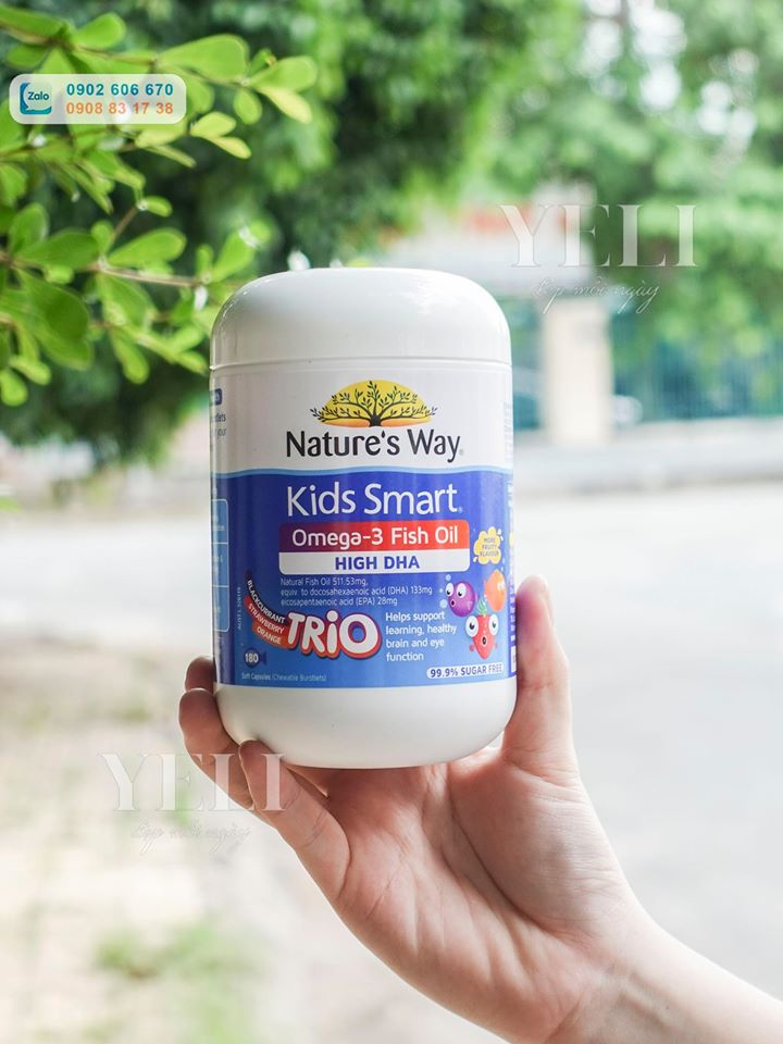 Nature's Way Kids Smart Omega 3 Fish Oil Trio