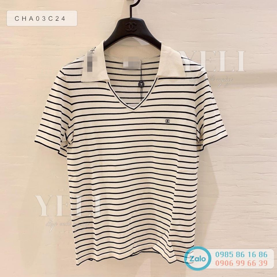 [ORDER] Chanel Striped Polo T-Shirts ss2020