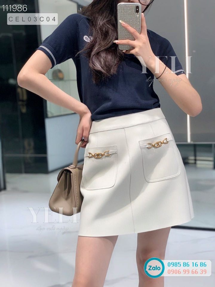 [ORDER] Celine Leather Skirts - Chân váy da Celine