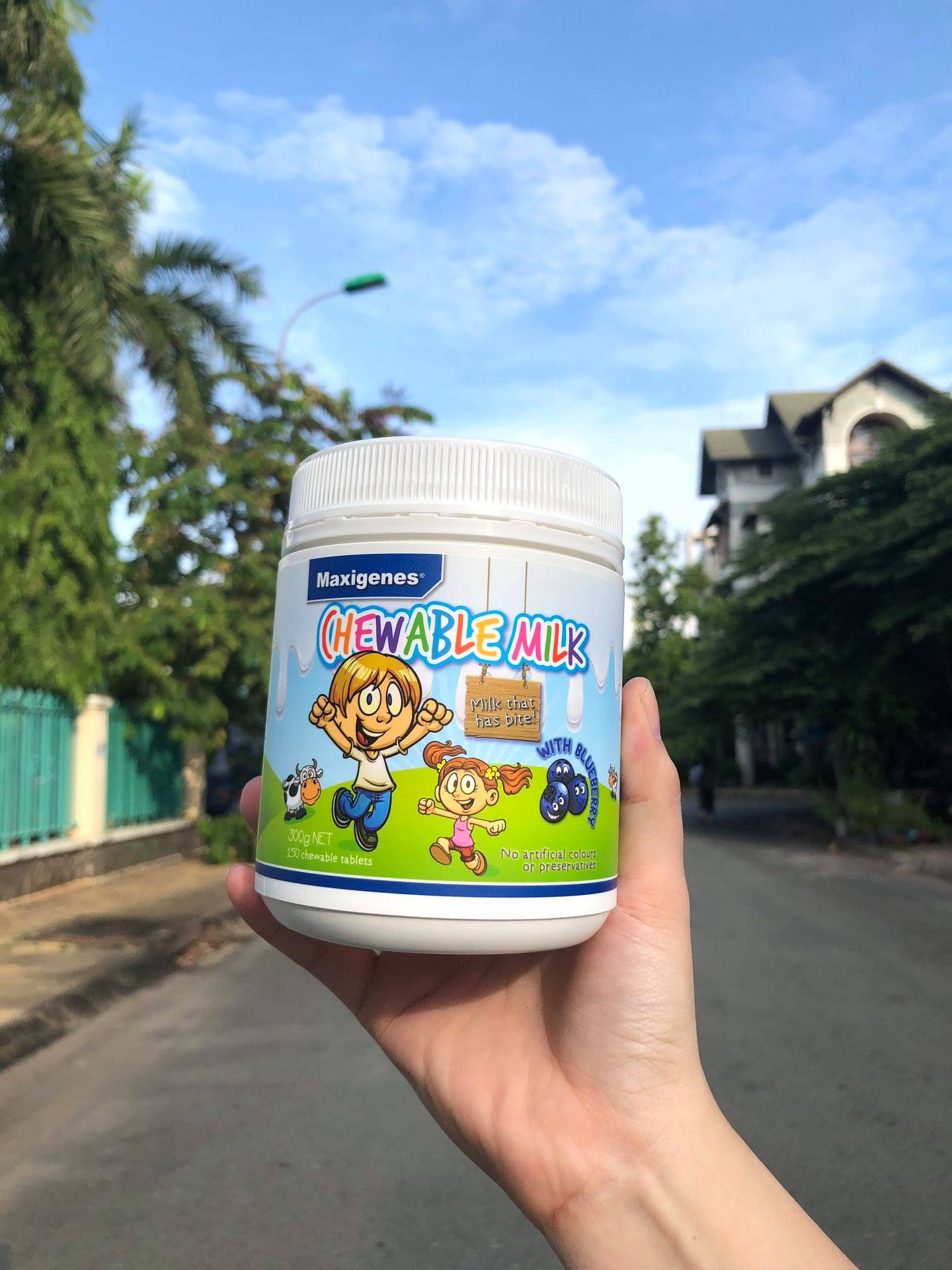Kẹo sữa Maxigenes Chewable Milk With Blueberry