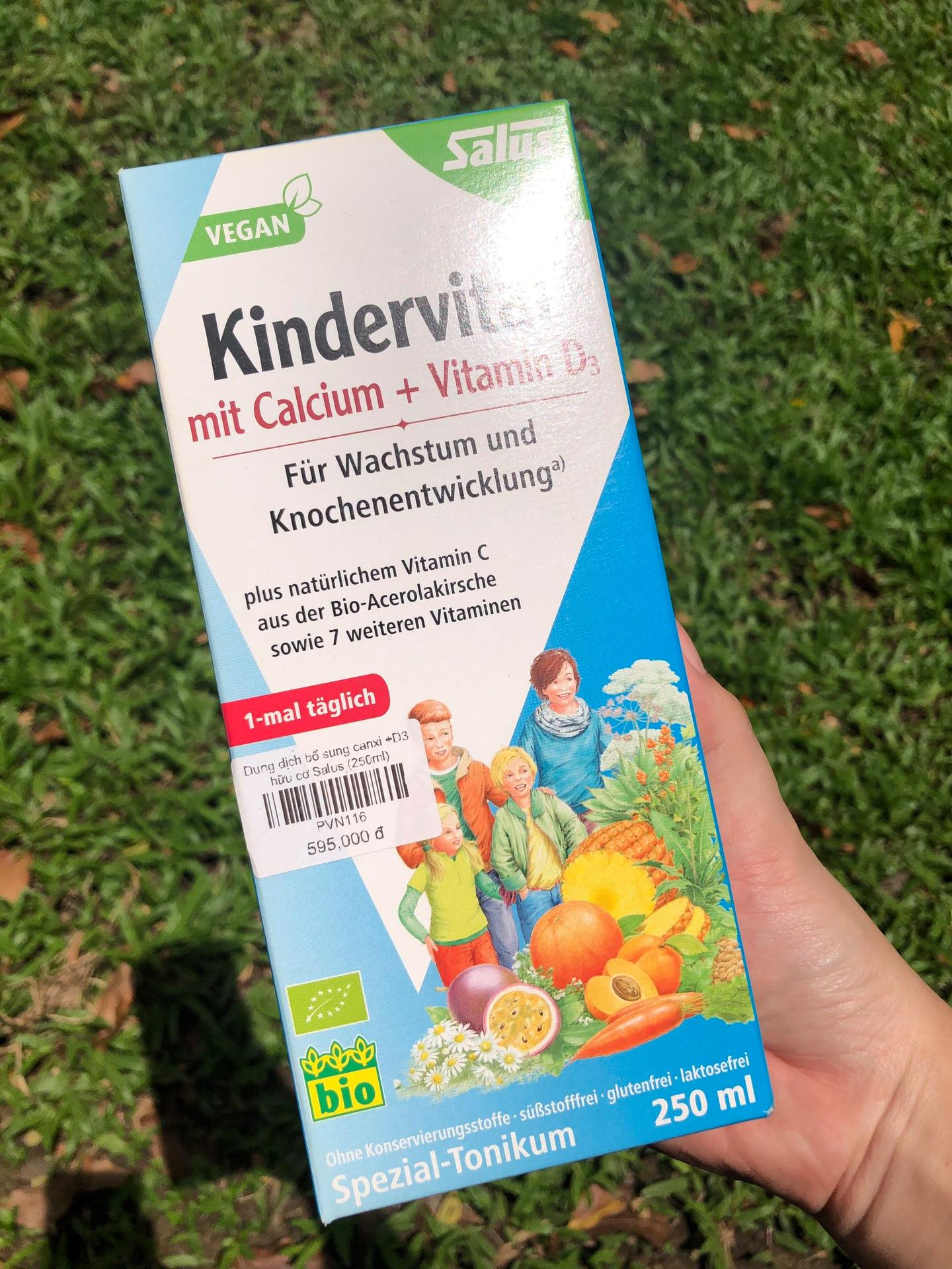 Dung dịch Canxi +D3 Kindervital - Salus