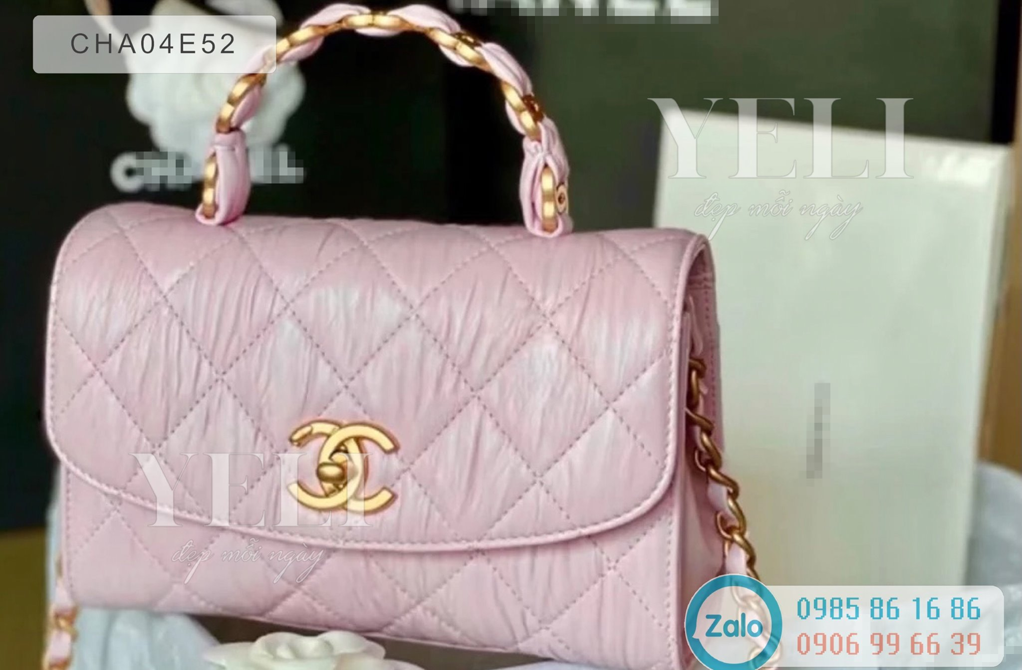 [ORDER] Chanel mini flap bag with top handle